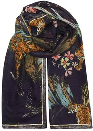 UNIVERSE OF US Wild Printed Scarf - Navy
