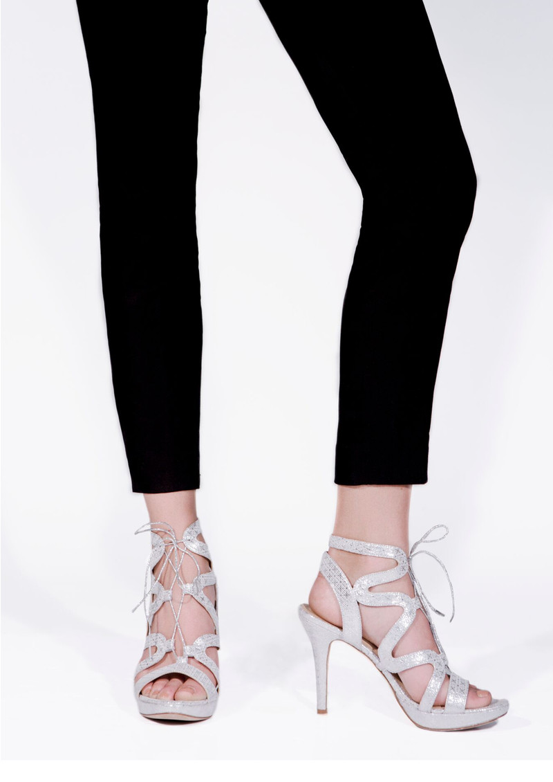Chic Leather Heels - Silver main image