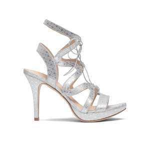 Chic Leather Heels - Silver