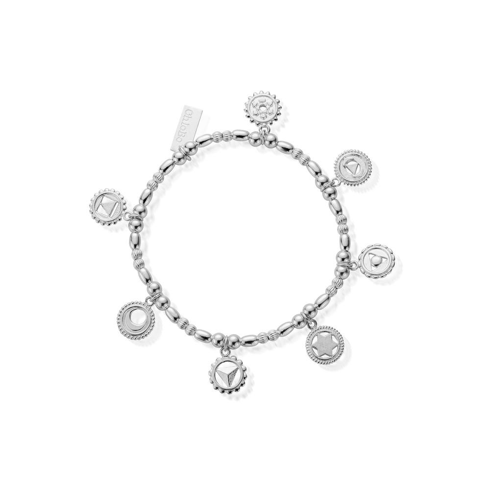 Cherabella Positive Vibes Bracelet - Silver