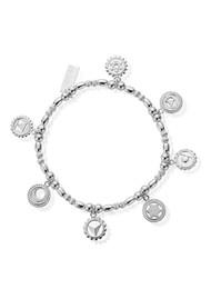 ChloBo Cherabella Positive Vibes Bracelet - Silver