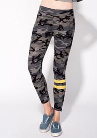 SUNDRY Camo Zipper Yoga Pants - Grey