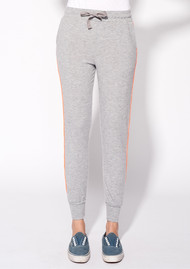 SUNDRY Side Tape Jogger Pants - Heather Grey