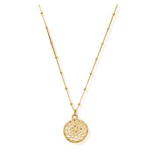 Cherabella Moon Flower Necklace - Gold