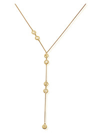 ChloBo Cherabella Positive Vibes Lariat Necklace - Gold