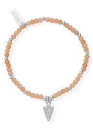 ChloBo Cherabella Arrow Head Bracelet - Silver & Peach Moonstone