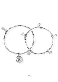 ChloBo Cherabella Purity Set of 2 Bracelets - Silver