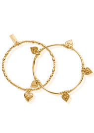 ChloBo Cherabella Embrace Set of 2 Bracelets - Gold