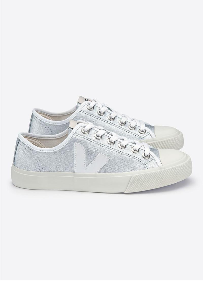VEJA Wata Canvas Trainers - Silver White