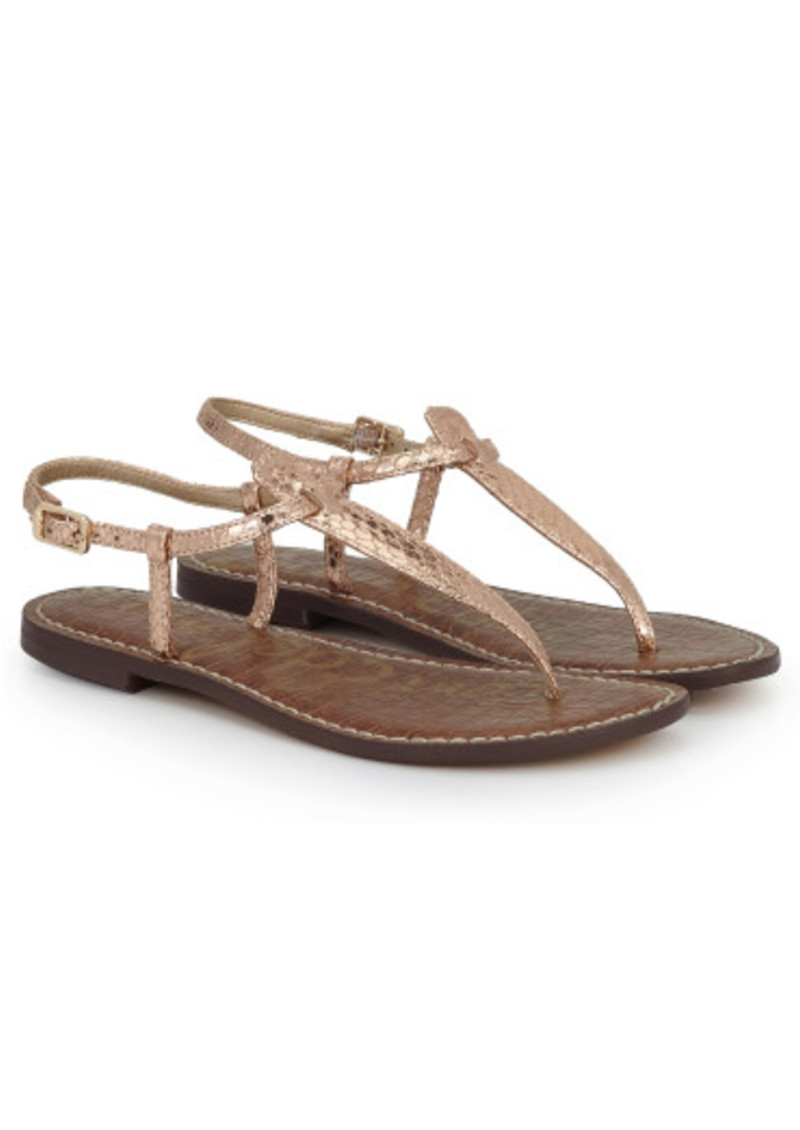 56678afcbc8d2 Sam Edelman Gigi Leather Boa Sandals - Rose Gold