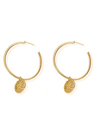 ChloBo Cherabella Moon Flower Earrings - Gold