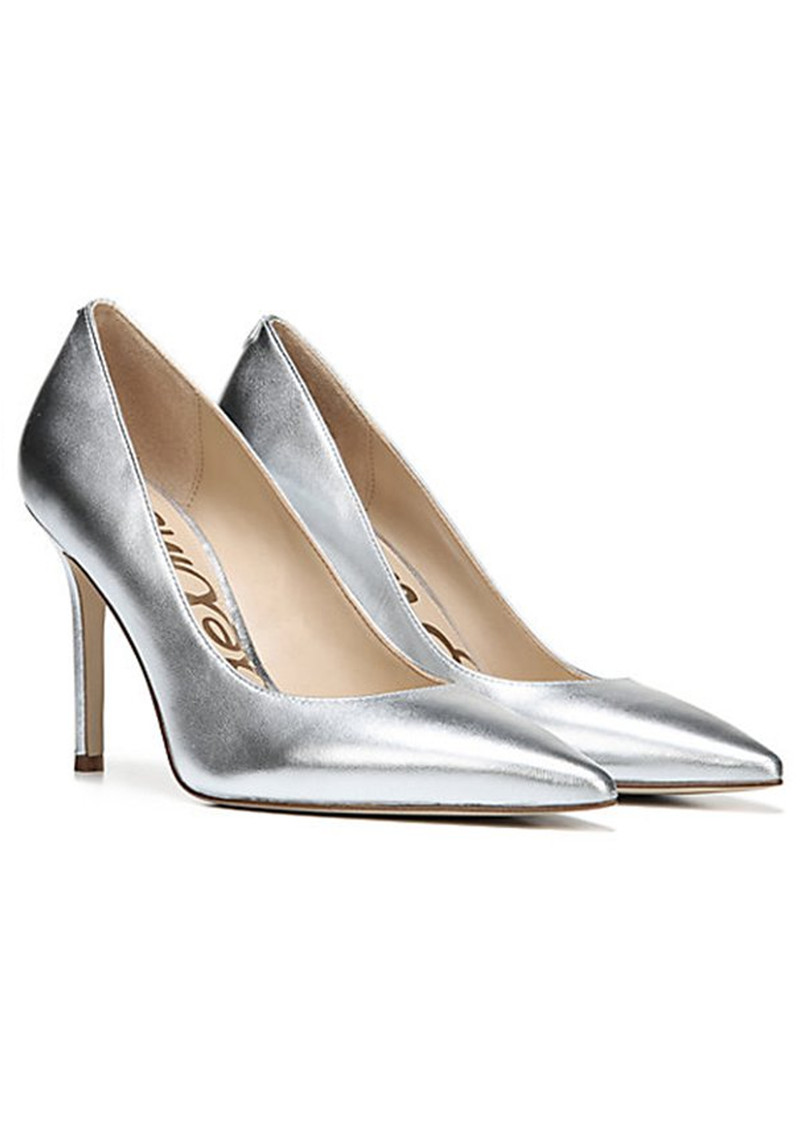 Sam Edelman Hazel Leather Heel - Metallic Silver main image