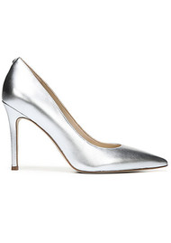 Sam Edelman Hazel Leather Heel - Metallic Silver