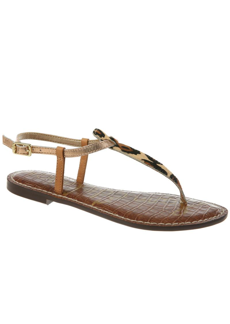 Sam Edelman Gigi Leopard Sandals - Nude & Copper main image. Loading zoom