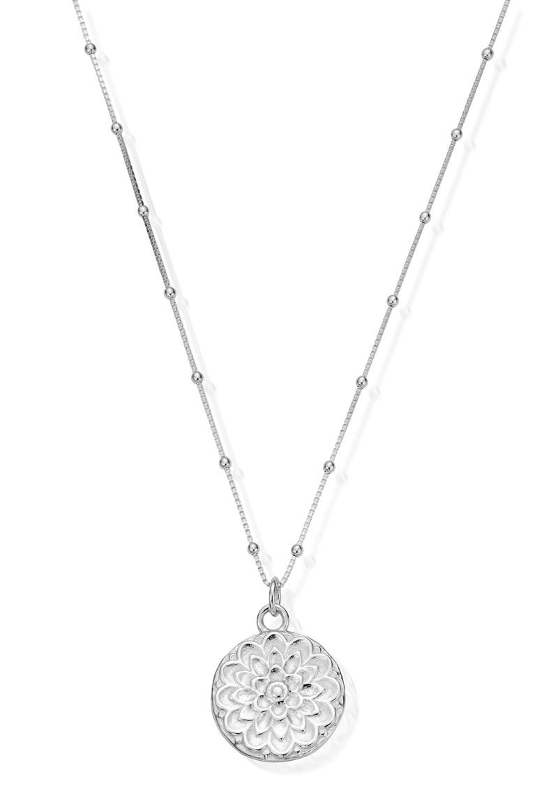 ChloBo Cherabella Moon Flower Necklace - Silver  main image