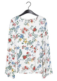 Twist and Tango Hillary Printed Blouse - White Garden Flower