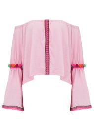 PITUSA Pom Pom Crop Top - Light Pink