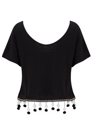 PITUSA Chandelier Pom Pom Top - Black