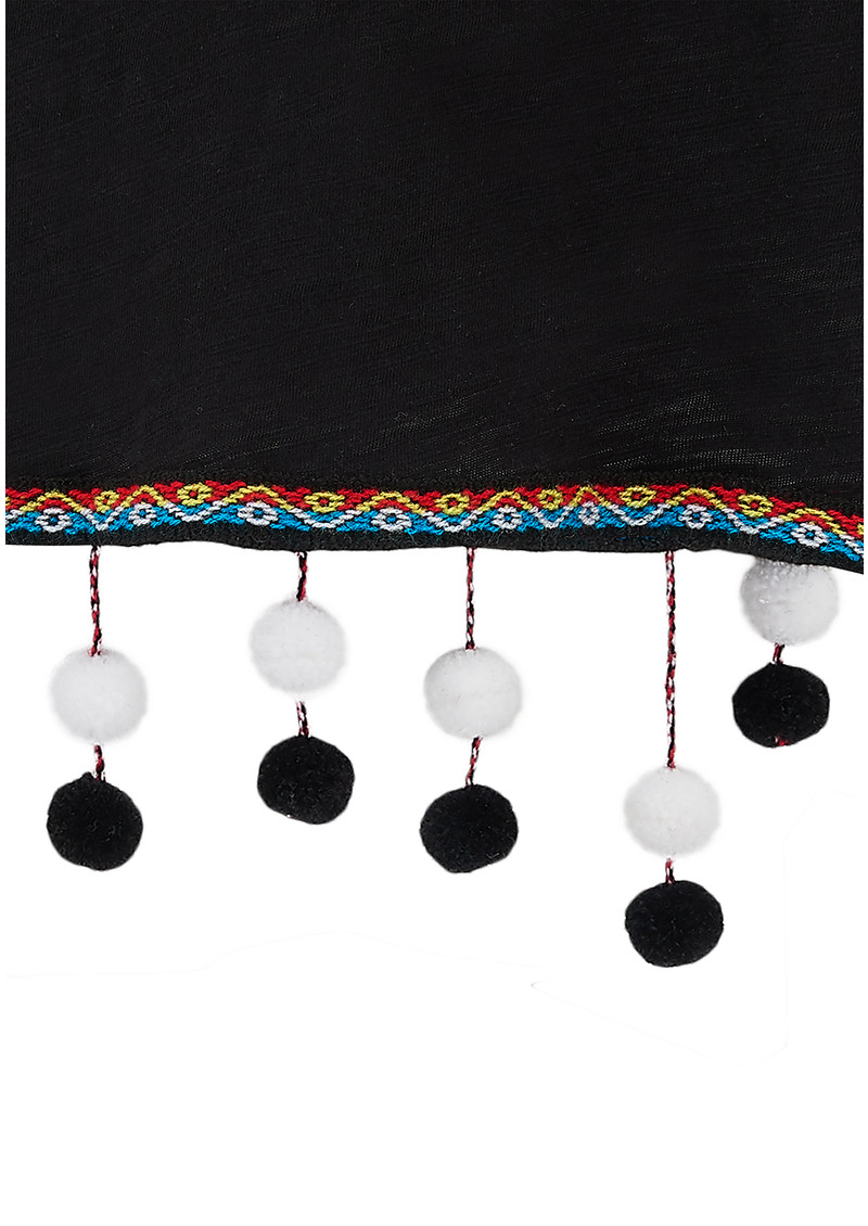 PITUSA Chandelier Pom Pom Top - Black main image