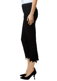 J Brand Ruby High Rise Cropped Cigarette Jeans - Black Lace