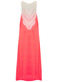 PITUSA Crochet Maxi Dress - Watermelon