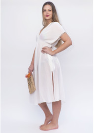 NOOKI Lagoon Maxi Dress - Ecru