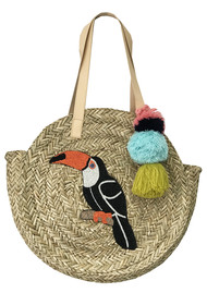 NOOKI Toucan Straw Bag - Natural