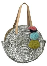 NOOKI Straw Bag - Silver