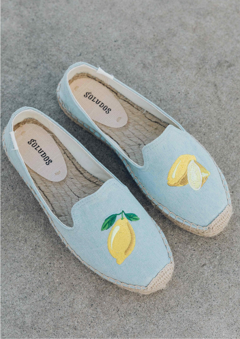 Lemon Platform Smoking Slipper - Chambray main image