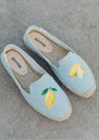 SOLUDOS Lemon Platform Smoking Slipper - Chambray