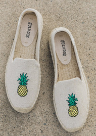SOLUDOS Pineapple Platform Smoking Slipper - Sand