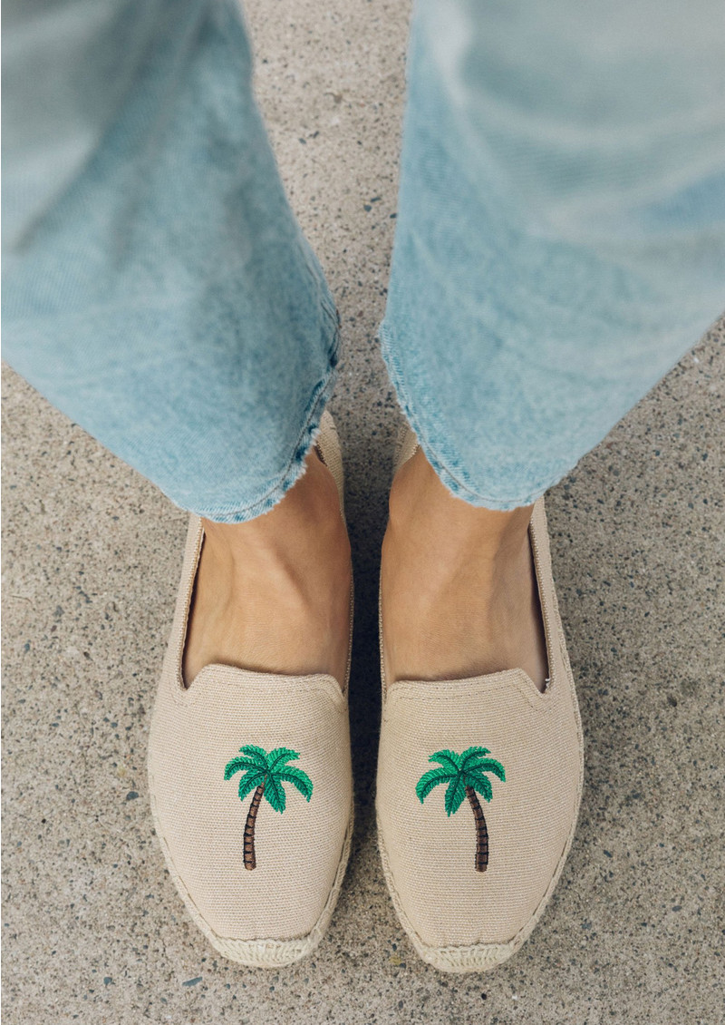 SOLUDOS Palm Tree Platform Smoking Slipper - Safari main image