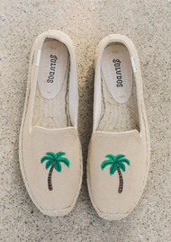SOLUDOS Palm Tree Platform Smoking Slipper - Safari