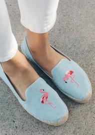 SOLUDOS Flamingo Smoking Slipper - Chambray
