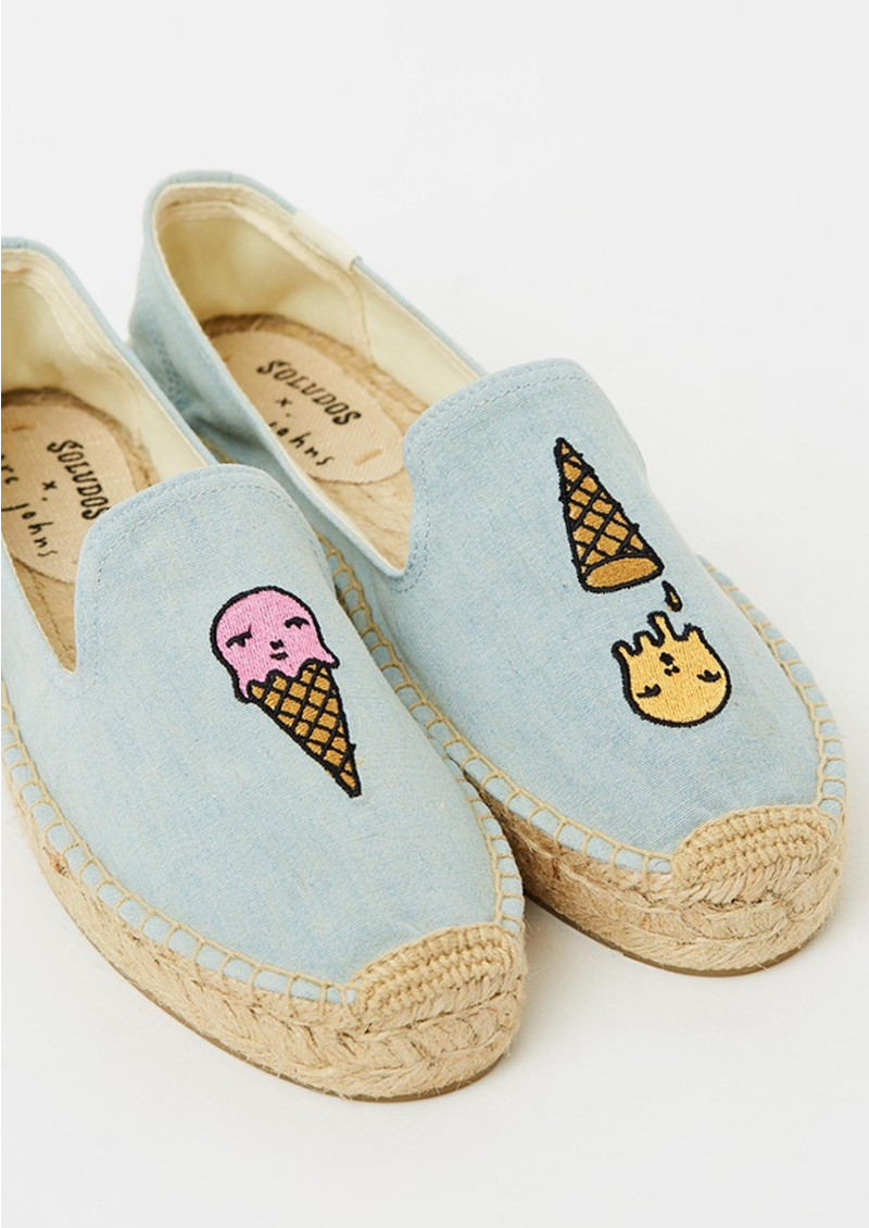 SOLUDOS Ice Cream Platform Smoking Slipper - Denim main image