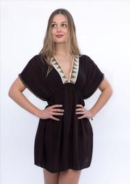 NOOKI Lagoon Aztec Dress - Black