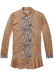 Maison Scotch Printed Button Up Peplum Shirt - Combo P