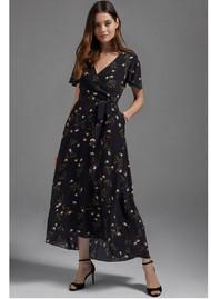 ETHEREAL Luciana Wrap Dress - Black