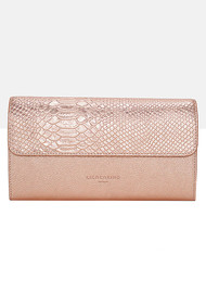 Liebeskind Maria F8 Metallic Clutch Bag - Rose Gold