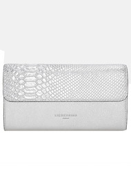 Liebeskind Maria F8 Metallic Clutch Bag - Silver
