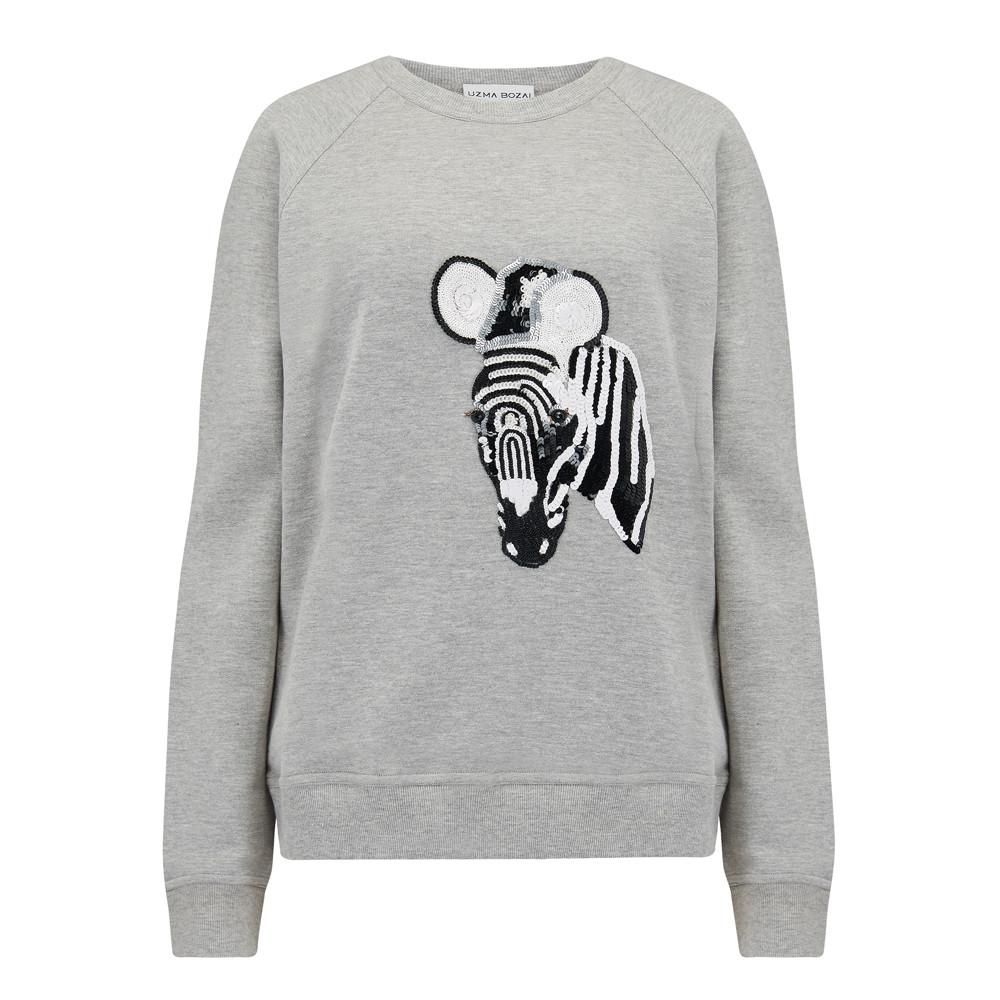 Zebra Sweater - Grey