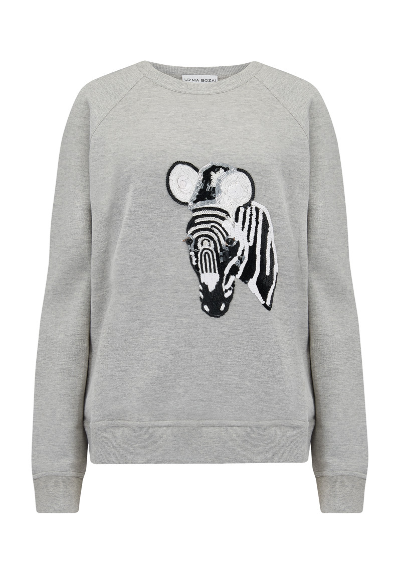 UZMA BOZAI Zebra Sweater - Grey main image