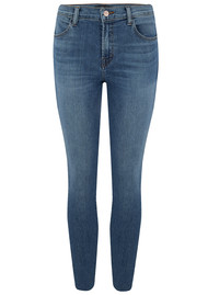 J Brand Alana High Rise Cropped Super Skinny Jeans - Delphi