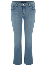 J Brand Selena Mid Rise Cropped Boot Cut Jeans - Patriot