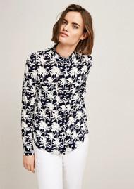 SAMSOE & SAMSOE Milly Long Sleeve Shirt - Bleu Palmier