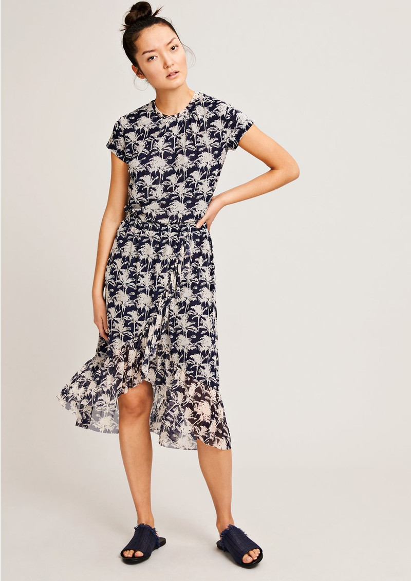 Jayla Printed Dress - Bleu Palmier main image