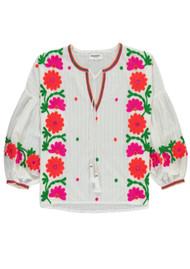 ESSENTIEL ANTWERP Papalouska Embroidered Blouse - White