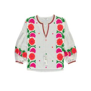 Papalouska Embroidered Blouse - White