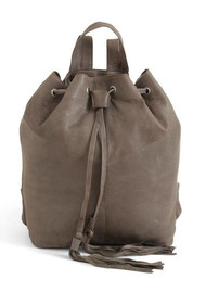 DAY & MOOD Natasja Leather Backpack - Light Grey