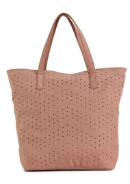 DAY & MOOD Nelly Leather Tote Bag - Rose Dawn